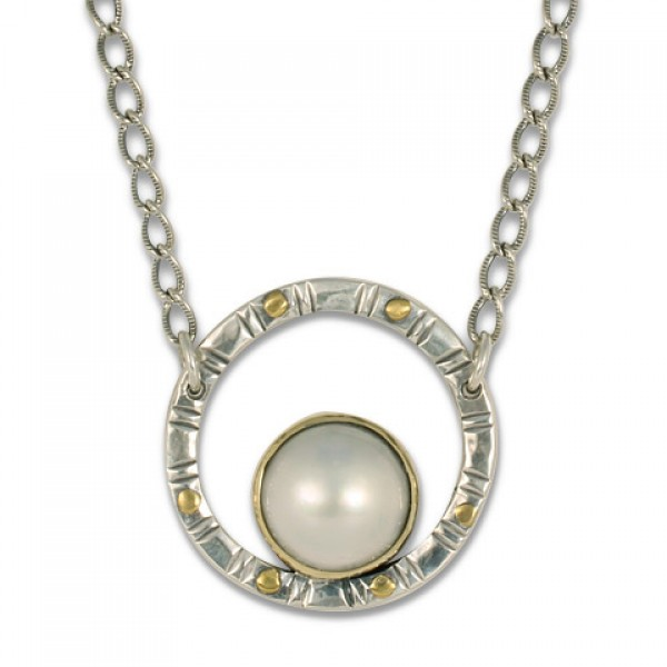 Mabe Pearl Circle Necklace