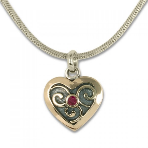 Mini Heart Swirl Pendant