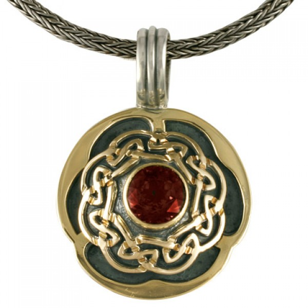 Helios Pendant With Garnet