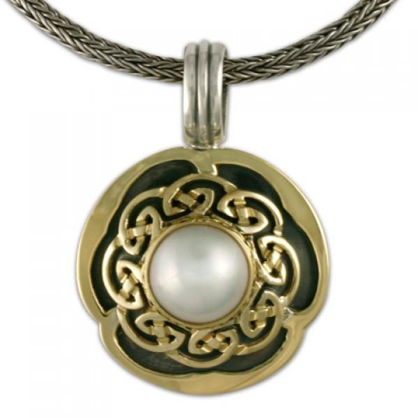 Helios Pearl Pendant - White