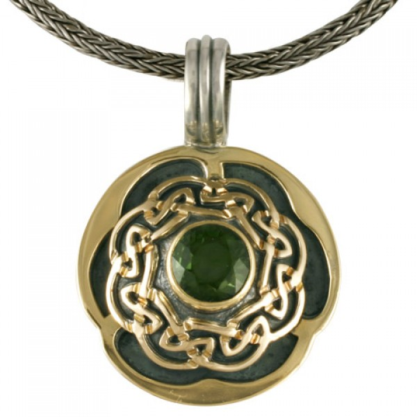 Helios Pendant With Tourmaline