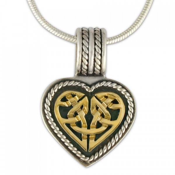 Twisted Heart Pendant