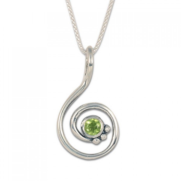 Celada Pendant with Gem