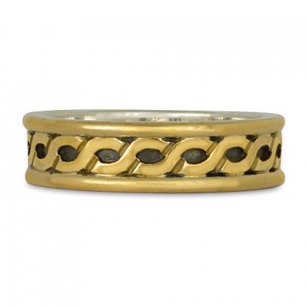 Bordered Rope Wedding Ring (GGG)