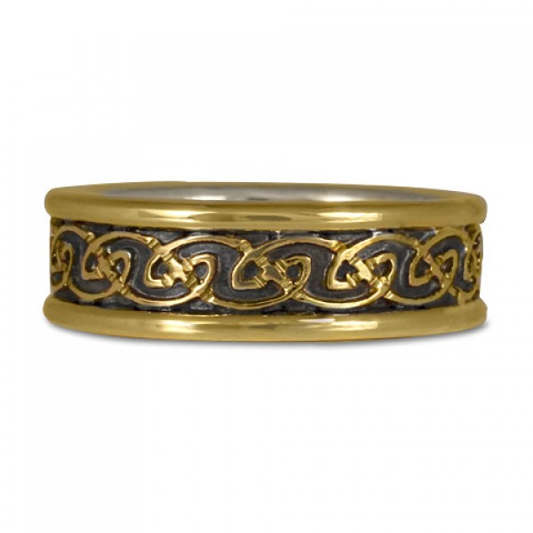 Bordered Petra Wedding Ring (GGG)