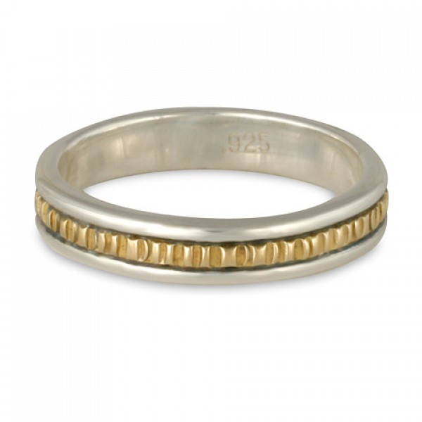 Bridges Ring Narrow- 14K Gold over Sterling