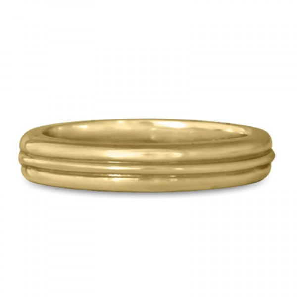 Windsor Wedding Ring in 18K Yellow or White Gold