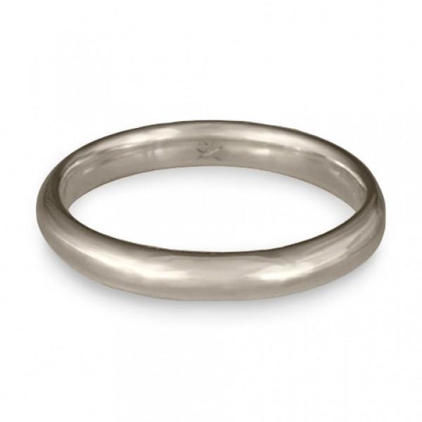 Classic Comfort Fit Wedding Ring Platinum, 3mm