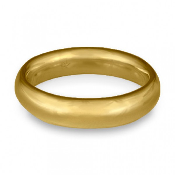 Classic Comfort Fit Wedding Ring, 14K Yellow Gold 5mm Wide by 2mm Thick