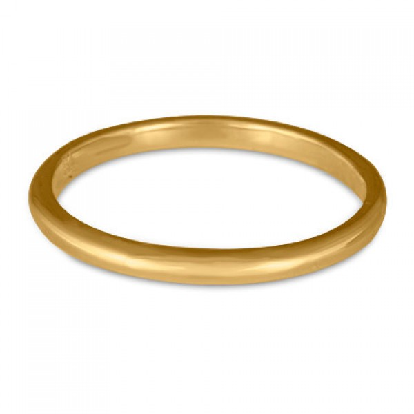Classic Comfort Fit Wedding Ring, 14K Yellow Gold 2mm Wide by 1.5mm Thick