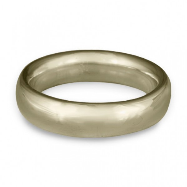 Classic Comfort Fit Wedding Ring, 18K White Gold 6mm Wide by 2mm Thick