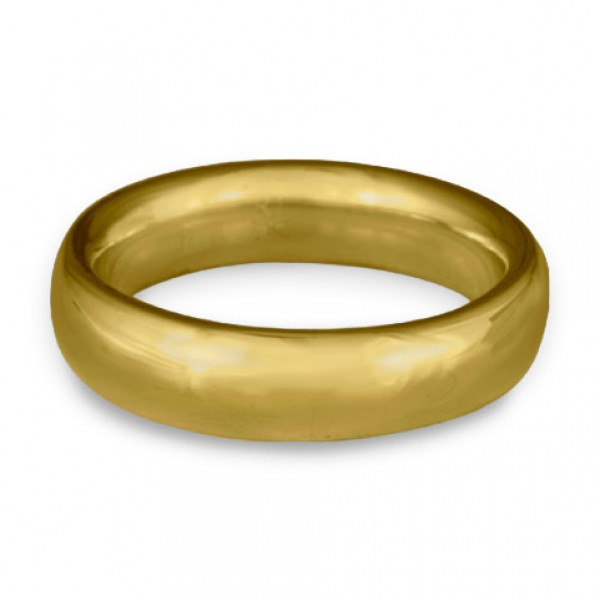 Classic Comfort Fit Wedding Ring, 18K Yellow Gold 6mm Wide by 2mm Thick