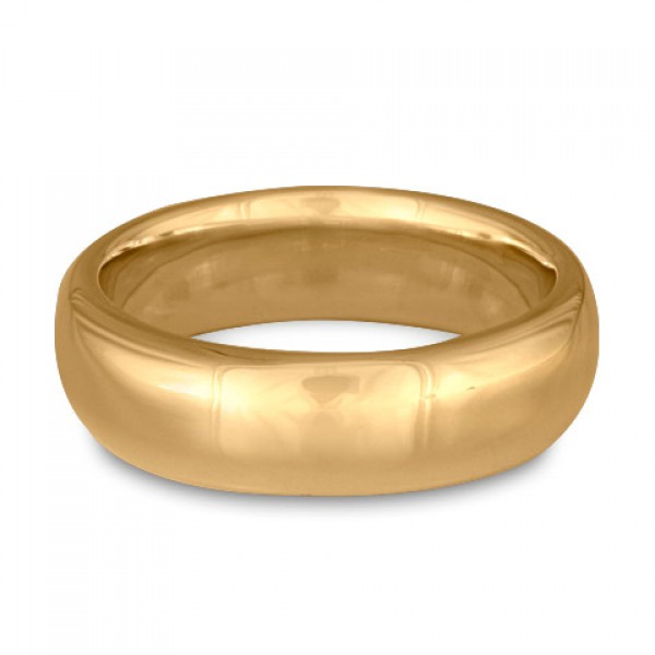 Classic Comfort Fit Wedding Ring, 14K Yellow Gold 8mm Wide by 2mm Thick