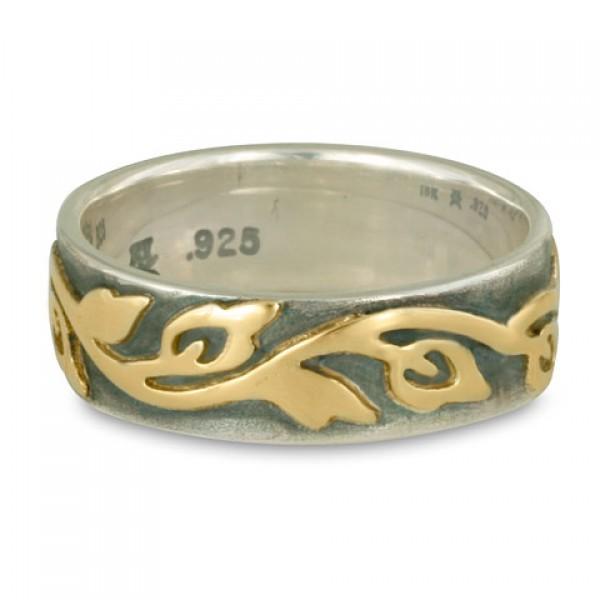 Wide Borderless Flores ST Edge Wedding Ring