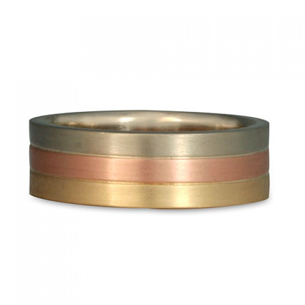 Trae Three Color Gold Ring