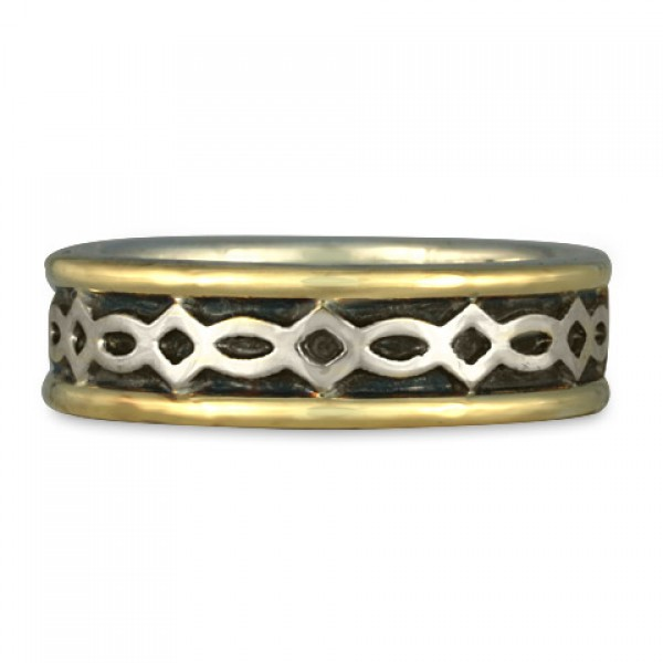 Felicity (WB) Wedding Ring in Gold over Silver (GSG)