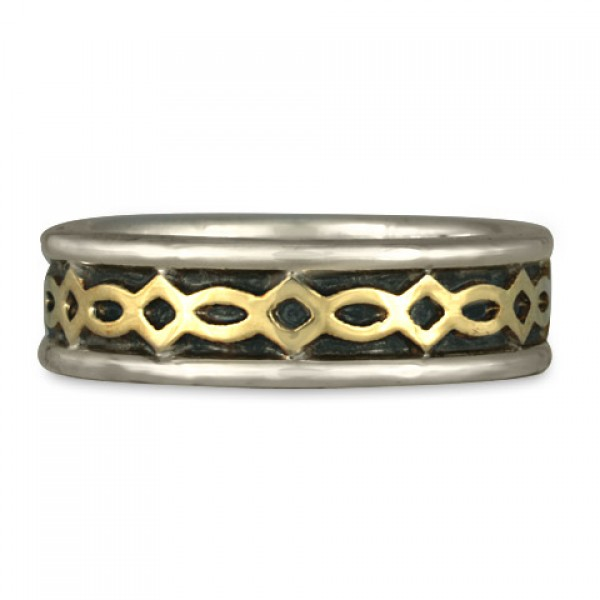 Felicity (WB) Wedding Ring in Gold over Silver (SGS)