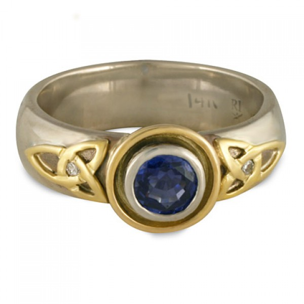 Trinity Cup Ring Gold with Diamonds
