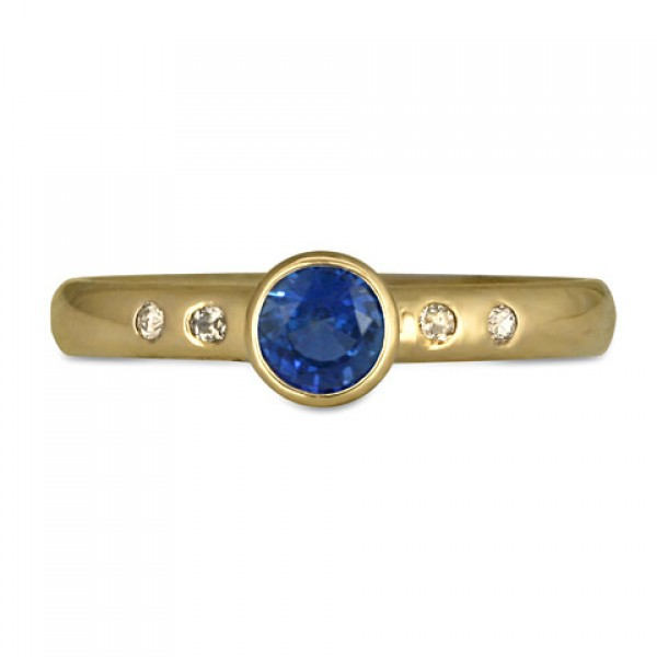 Simplicity Gold Ring with Sapphire