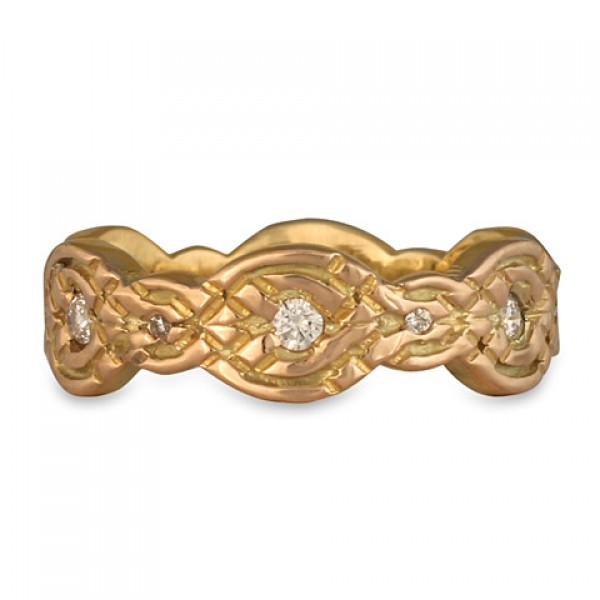 Flow Gold Ring 18K with Diamonds