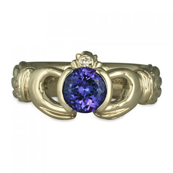 Celtic Claddagh Wedding Rings Designer Heirloom Wedding Rings by