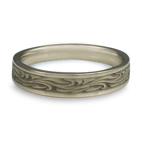 Extra Narrow Starry Night Wedding Ring in 14K White Gold