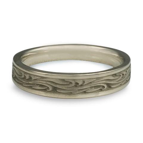 Extra Narrow Starry Night Wedding Ring in 18K White Gold