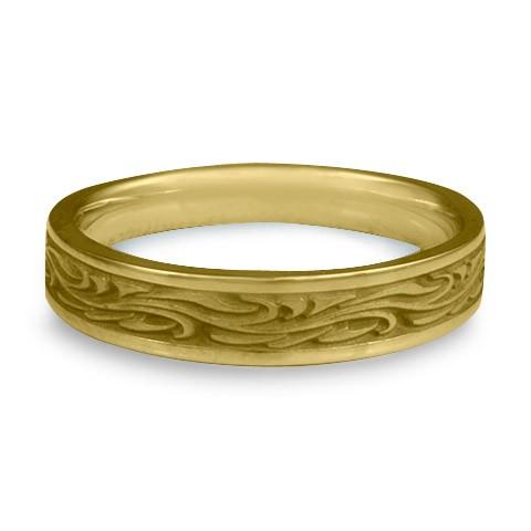Extra Narrow Starry Night Wedding Ring in 18K Yellow Gold