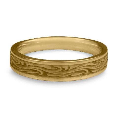 Extra Narrow Starry Night Wedding Ring in 14K Yellow Gold