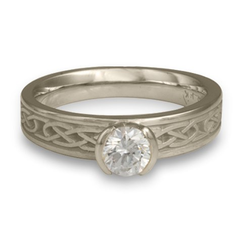 Love Knot Engagement Ring in 14K White Gold