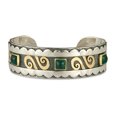 Swirl Gem Cuff Bracelet