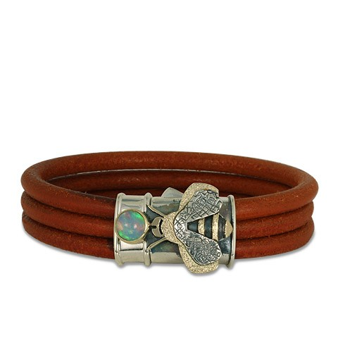 Bee Leather Bracelet