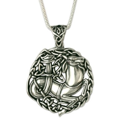 Capricorn The Goat Silver Pendant (Small)