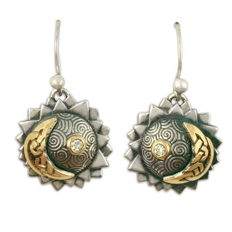 Eclipse Earrings with Diamonds