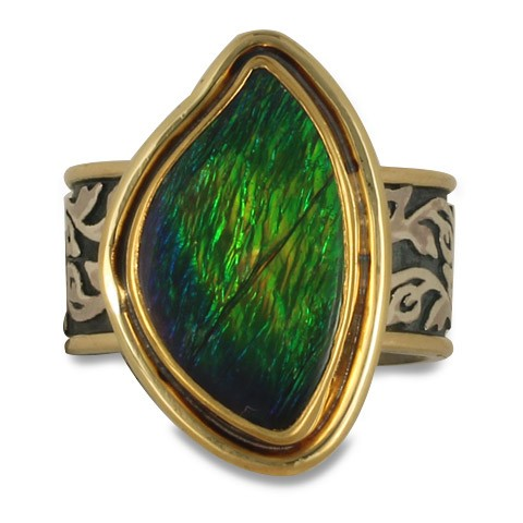 One-of-a-Kind Ammolite Liana Ring