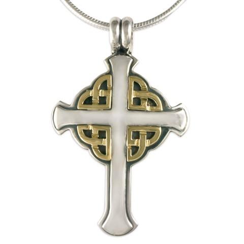 Interlace Cross Pendant