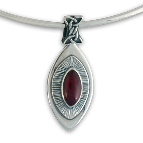 Adair Pendant on Silver Collar