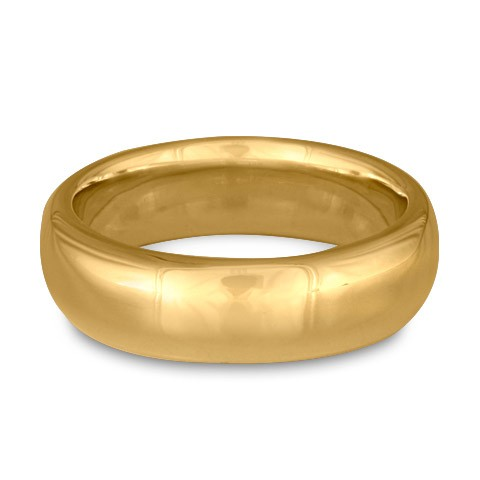 Classic Comfort Fit Wedding Ring, 14K Yellow Gold 7mm Wide by 2mm Thick