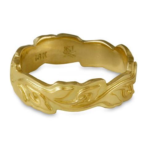 Medium Borderless Flores Wedding Ring in 18K Yellow Gold