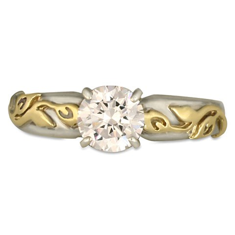 Flores Solitaire Engagement Ring