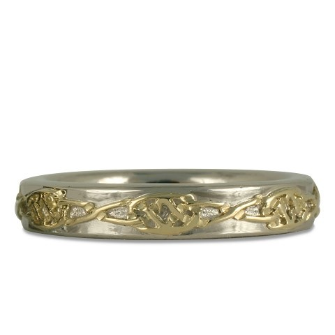 18K Yellow Gold over 14K White Gold