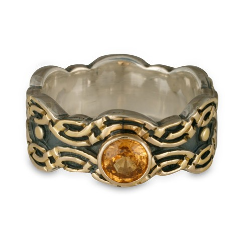 Flow Ring With Gem