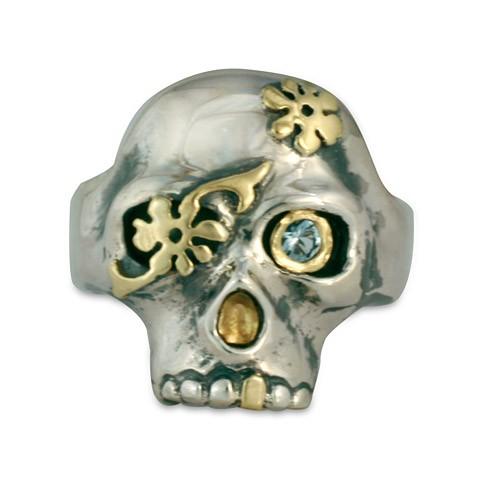 Daisy Skull Ring
