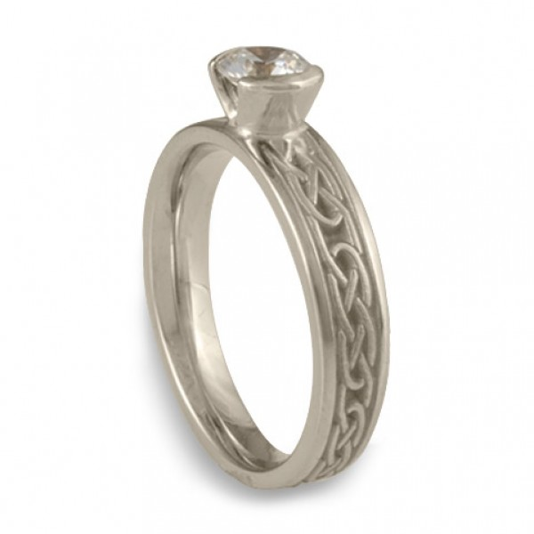 Love Knot Engagement Ring In 14k White Gold By Celtic Jewelry