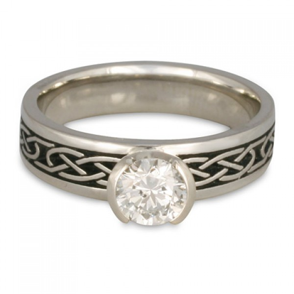 Love Knot Engagement Ring In Platinum By Celtic Jewelry