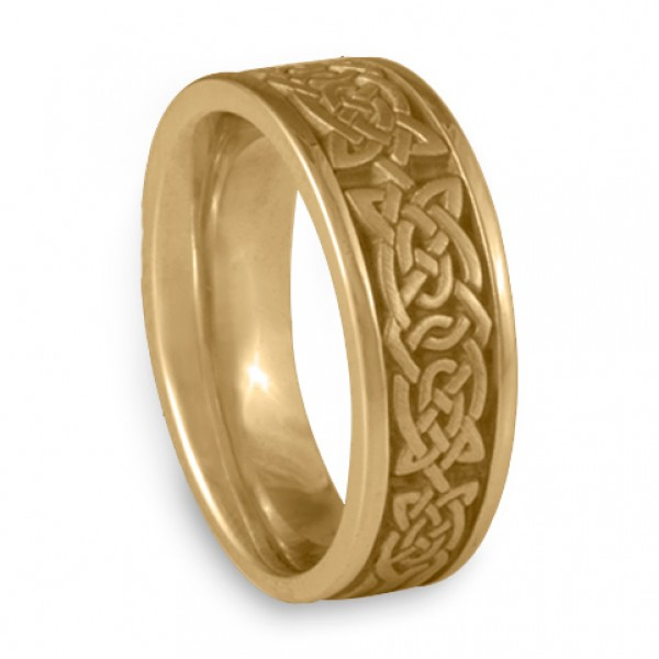 Engagement Rings Galway: Wide Galway Bay Wedding Ring In 14K Yellow Gold