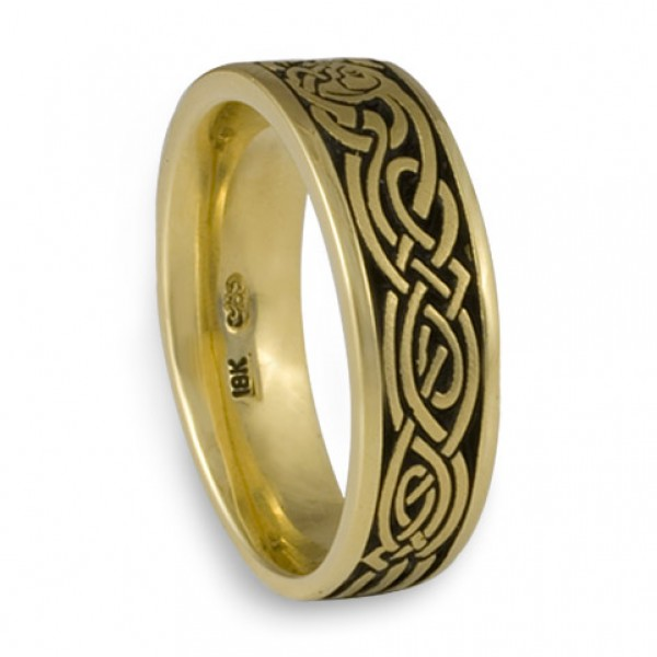 celtic hunt wedding ring in 18k yellow gold by celtic jewelry