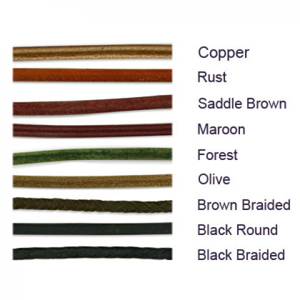 Earth Tone Leather Colors