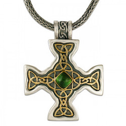 two tone celtic cross