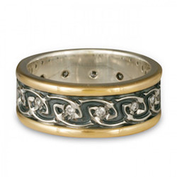 celtic wedding band with diamond